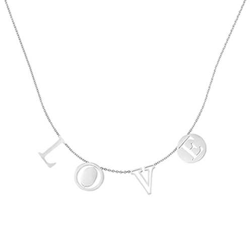 Love Letters Ketting 2.0 - zilver 01