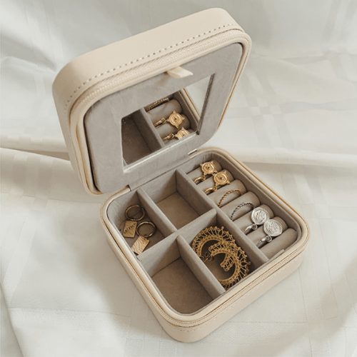 Sieraden Travel Box Off White