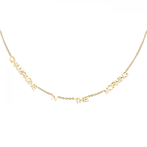 Champagne Ketting - Goud