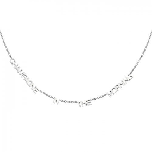 Champagne Ketting - Zilver
