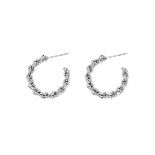 Bali Hoops Twisted zilver