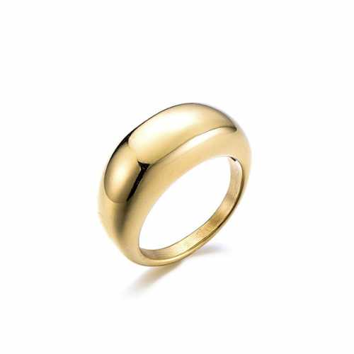Chunky ring | Brede ring goud